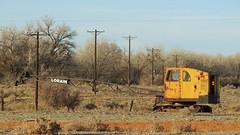 Old crane on Overton Road, north of Pueblo, Colorado (rolandmks7) Tags: crane pueblo machine 169 november182013