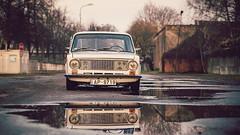 21011 (jancuksz) Tags: autumn white car latvia soviet riga vaz whitewall stance steelie 21011