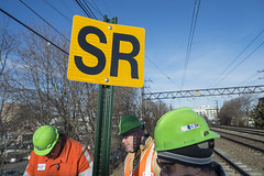 Speed Restriction Signs (MTAPhotos) Tags: bronx portchester derailment spuytenduyvil metronorthrailroad