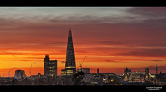 London England (esslingerphoto.com (Off to France)) Tags: park city uk longexposure greatbritain bridge light sunset sea england panorama color building london eye tower art english tourism glass museum architecture skyscraper towerbridge canon buildings photography eos lights evening photo europe exposure cityscape skyscrapers shot crane pano capital great towers londoneye icon architectural single hour gb 5d nightshots bttower britian cityoflondon mkii edf londonlandmarks londonnights kingsreachtower esslinger theshard esslingerphotocom esslingerphoto vision:sunset=0864 vision:outdoor=0916 vision:sky=0913 vision:clouds=0578