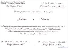 Convite Casamento Juliana e Daniel 2000