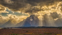 rays of light (Marvin Bredel) Tags: light sky mountains clouds landscape nationalpark bravo unitedstates dramatic rays wyoming teton moran jacksonhole lightrays grandtetonnationalpark jacksonlake willowflats marvinbredel