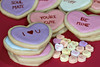 Conversation Heart Cookies (KellyGarciaPhotography) Tags: blur detail macro cute love cookies canon hearts baking cookie candy heart sweet bokeh valentine sugar depthoffield sweets valentines icing iloveyou canonrebel treat hotstuff plätzchen valentinesday kekse biscotti soulmate sugarcookies loveme heartcookies conversationhearts conversationheart biscoito galletas bemine yourecute marryme 饼干 galleta biscotto heartcookie royalicing クッキー 餅乾 曲奇餅 conversationheartcookies canonef100mmf28lisusm 曲奇饼 eoskissx4 canon550d eos550d canonrebelt2i heartsugarcookies canonkissx4 eosrebelt2i