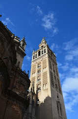 The Giralda, originally 12th century Almohad minaret (14) (Prof. Mortel) Tags: spain minaret seville andalucia giralda almohad