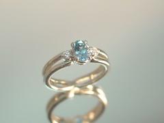 3月のお誕生石、アクアマリンのエンゲージリング。 (jewelrycraft.kokura) Tags: brazil minasgerais 指輪 ダイヤモンド 婚約指輪 エンゲージリング アクアマリン プラチナ ダイヤ ゆびわ