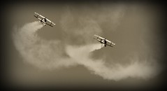 World War I Airplanes - Allied (Adventurer Dustin Holmes) Tags: airplane airplanes wwi worldwari nieuports nieuport fighterplane fighterplanes turning turn aviation plane planes military depthoffield outdoor sky missouri airshow