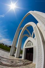 (Ziad Hunesh) Tags: park art canon arches fisheye 8mm doha qatar    650d     albidda alrumailah zhunesh