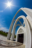(Ziad Hunesh) Tags: park art canon arches fisheye 8mm doha qatar فن قطر الدوحة 650d حديقة الرميلة البدع أقواس albidda alrumailah zhunesh