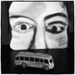 Lesney Bus (NoJuan) Tags: bw square blackwhite digitalbw ep3 diecast lesney artfilter micro43 microfourthirds lesneymatchbox olympusartfilter olympusep3 microfourthirdswithmanualfocuslens ep3withcanonfllens