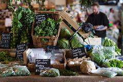 farmers' market (penwren) Tags: green vegetables kent display farmersmarket bokeh canterbury fresh chalkboard localproduce thegoodsshed thevegstall
