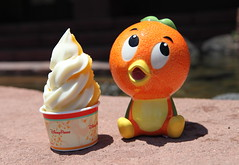 Orange Bird and Citrus Swirl (Sam Howzit) Tags: ceramic dessert disney waltdisneyworld figurine magickingdom adventureland orangebird sunshinetreeterrace citrusswirl
