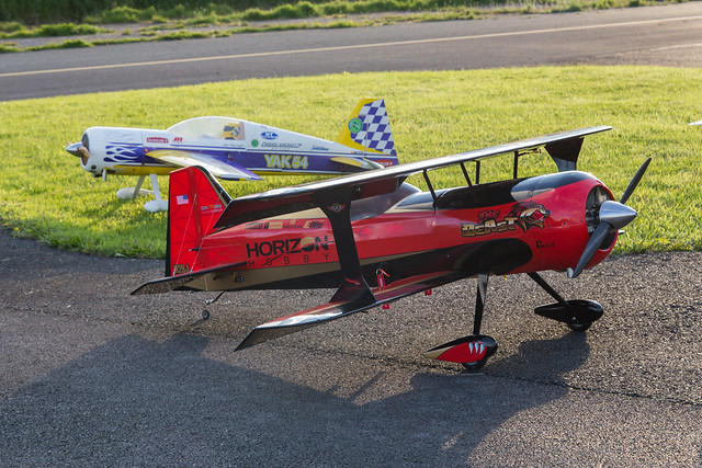 Phil's Hangar 9 Beast with the Carden Yak in the background.