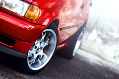 VW Polo (rs505) Tags: rot car sport vw volkswagen hr gti tuning polo felgen 6n borbet tiefbett