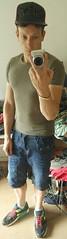 Just Me (josbert.lonnee) Tags: guy muscles posing tshirt nike cap sagging saggy tighttshirt airmax90 jackjones jeansshorts airmaxiii