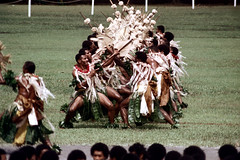 27-474 (ndpa / s. lundeen, archivist) Tags: costumes man color men film field festival fiji 35mm outside outdoors dance costume clothing dancers dancing spears song traditional nick group performance culture makeup dancer skirt suva southpacific warriors tradition 1970s facepaint 27 performers 1972 skirts grassskirt dewolf oceania pacificartsfestival pacificislands youngmen grassskirts festivalofpacificarts southpacificislands nickdewolf photographbynickdewolf festpac pacificislandculture southpacificfestival reel27 southpacificartsfestival southpacificfestivalofarts fiji72
