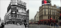 Coventry Street`1959-2017 (roll the dice) Tags: london westminster piccadilly leicestersquare wc2 w1 sw1 advertising tourism traffic canon old lights local history collection changes sad mad nostalgia comparisin uk classic art oldandnew pastandpresent hereandnow people fashion shops shopping bygone retro fifties closed vanished demolished londonist stage actors comparison haig milletts restaurant osram boac cab taxi chinese brandy booze chimney cold foliesbergère musical play graciefields mormon view danger delfontmackintoshtheatres grade2 listed famous urban england talk telephone tourists