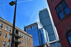 Verticals (AntyDiluvian) Tags: boston massachusetts backbay newburystreet vertical pru prudentialtower