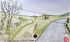 Le Tour de France virtuel - 48 - Lozère (chando*) Tags: croquis sketch aquarelle watercolor france