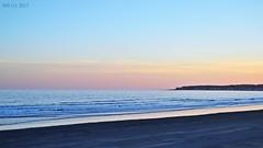 DSC_0246n wb (bwagnerfoto) Tags: beach shore usa sunset twilight blue blush landscape tájkép landschaft winter tél naplemente seascape