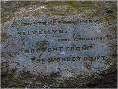 Worden Hall, Leyland, porphyry erratic from Helvellyn (Pitheadgear) Tags: erratic glacialerratic porphyry wordenhall wordenhallpark leyland lancashire boulder stone parks parkland lumixgx8