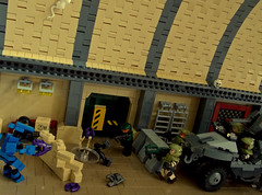 Intruders (Nick Brick) Tags: 3 marine jackal lego chief halo scene master elite crowsnest warthog ratsnest unsc brickarms brickforge nickbrick