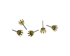 02753-001A-Vintage-Brass-Ear-Stud-Claw-Setting (Big Bead Little Bead) Tags: earring findings vintageearringfindings
