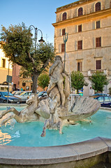 Neptune Fountain (sixthofdecember) Tags: travel trees urban italy building tree water fountain nikon oldtown neptune lazio nettuno tamron18270 nikond5100