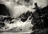 Emerald Lake - Explored (Tony Hochstetler) Tags: blackandwhite bw lake snow ice clouds nikon nik rmnp toned rockymountainnationalpark emeraldlake hallettpeak nikon1424mmf28 silverefexpro2 rememberthatmomentlevel1 flickrsfinestimages1 rememberthatmomentlevel2
