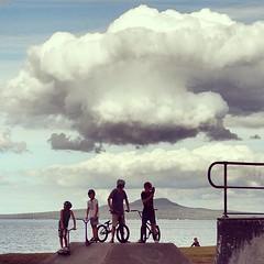 Skateboard bowl #skateboard #bike #bikers #RangitotoIsland... (here_downunder) Tags: uploaded:by=flickstagram instagram:photo=45383336097635031413033554 skateboard bike bikers rangitotoisland volcanic island haurakigulf auckland nz rangitoto beach sea clouds cloudporn sky sydney australia