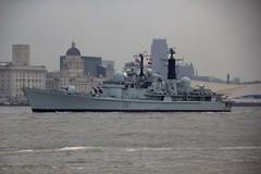 HMS Edinburgh - Liverpool (seentwistle) Tags: liverpool river edinburgh may battle atlantic celebrations mersey hms 2013
