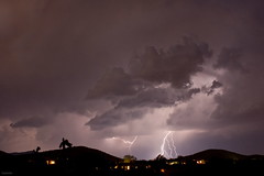 Storms have bestowed upon New Mexico (Sacker Foto) Tags: storm mountains newmexico southwest rain clouds dry hills strike lightning northern santafecounty adaptall2 manualfocuslens m42adapterring droughtstricken eldoradoatsantafe tamron28mmf25bbarmc