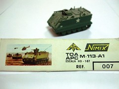 M-113-A1 TOA/APC - NIMIX (RMJ68) Tags: toy army us model plastic kit apc 187 armored carrier toa juguete personnel m113 h0 m113a1 nimix
