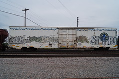 stel snafu (benchomatic) Tags: train bench graffiti minneapolis trains move freight freights snafu stel fr8 mylk benching fr8s