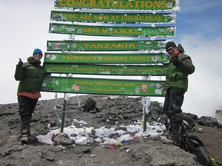 Lauren & Frank at the Kilimanjaro summit!