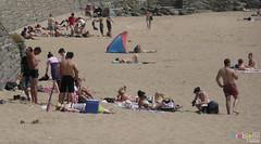Barry Island July 2013 -  178 (marmaset) Tags: summer seagulls men beach seaside sand lads barry trunks swimmers sunbathers beachboys heatwave barryisland funinthesun rightcommon sunworhippers
