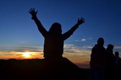 Puncak Gunung Ciremai (qefy) Tags: sunrise hiking hijab gunung awan siluet sahabat kuningan langit agustus mendaki bendera persahabatan liburan semangat merahputih jawabarat renungan ciremai kebersamaan pegunungan muncak gunungciremai puncakgunungciremai pendakiangunungciremai
