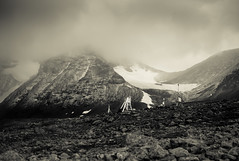 Autumn arrives (c_c_clason) Tags: leica blackandwhite snow mountains sweden summicron 40mm schwarzweiss summicronc tarfala leicam8 tarfalaresearchstation