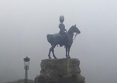Scots Greys (nearthecastle) Tags: uk horse mist statue misty fog soldier scotland memorial edinburgh princesstreetgardens princesstreet mounted princesst haar princesstgardens royalscotsgreys thedailypost scotsgreys