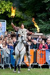 Horse dressage (_NicoDem_) Tags: horse france training canon cheval fire mark medieval ii 5d fête flamme feu journée patrimoine dressage châteauthierry médiévale 5dmarkii 5dmkii
