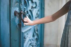 Enter (KristenVB) Tags: door blue girl closeup museum architecture vintage lucy child sandiego daughter steps ornate museumofman balboapak