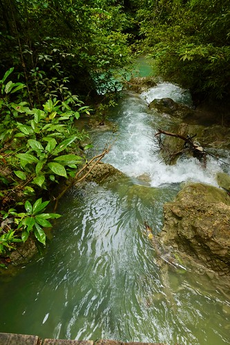 Erawan National Park and Waterfall in Kanchanaburi province, Thailand
