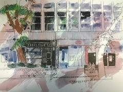 Lincoln Square, Manchester (chiltsy63) Tags: urban pen pencil manchester northwest mixedmedia north watercolour lincolnsquare sketchers watercolourpencil urbansketchers