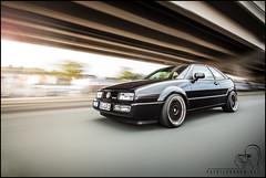 Alexanders Corrado VR6 (patrickbraun.net) Tags: auto urban sun motion black blur car vw volkswagen shot automotive rig flare siegen rolling coup vr6 corrado ef20mmf28usm canoneos5dmk2