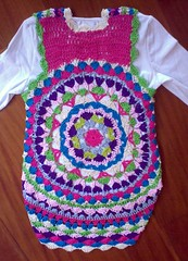 Girl´s Vest - Back (LauraLRF) Tags: street thread girl crochet niña cotton hippie hilo vest 47 algodon ganchillo chaleco
