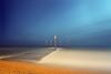 Red posts, Shoreham (Alex Bamford) Tags: red film sussex fuji moonlight 6x9 posts shoreham fujicolor outflow pro160s gsw690iii alexbamford wwwalexbamfordcom alexbamfordcom