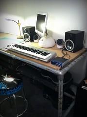 Keyboard Pipe Desk