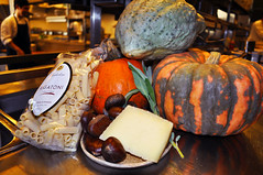 Pasta Ingredients (Oliver & Bonacini) Tags: food toronto cooking pumpkin restaurant italian rustic seasonal pasta chef vegetarian chestnut ob local rigatoni luma michaelwilson