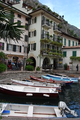 Curving edge to the harbour (Halliwell_Michael ## Offline mostlyl ##) Tags: italy boats lakes limone lakegarda harbours 2013 nikond40x