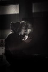 cigarette break (harmonyhalo) Tags: london southbank photoaday mobilephone 365 royalfestivalhall londonstreets project365 365days 365project mansmokingcigarette photoaday1314 royalfestivalhallcarpark