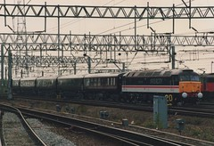 "Intercity Swallow Class 47/8, 47835 ""Windsor Castle"" on Royal Train Duties (37190 ""Dalzell"") Tags: plum spoon crewe duff windsorcastle intercity royaltrain mainline class47 47835 brush4 class478 sbrea springsbranchrailenthusiastsassociation"